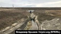 Слив воды с Тайганского водохранилища, январь 2020 года