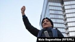 Ирма Инашвили на акции«Альянса патриотов», проходившей на площади Первой Республики 17 ноября