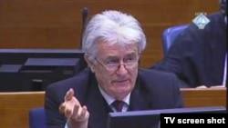 Radovan Karadžić na sudu gde mu se sudi za ratne zločine, Haški tribunal, 11. mart 2011.