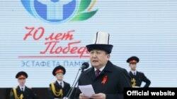Жогорку Кеңештин Төрагасы Асылбек Жээнбеков. 9-апрель, 2015-жыл.
