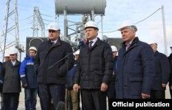 Запуск второй ветки энергетического моста с Кубани в Крым, 15 декабря 2015 года