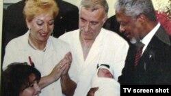 Kofi Anan u posjeti tek rođenom Adnanu Meviću