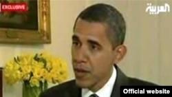 АҚШ президенті Барак Обама әл-Арабия теле арнасына сұхбат беруде Вашингтон, 26 қаңтар, 2009 жыл.