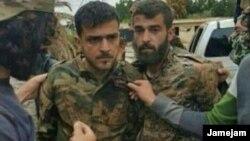تصویری که رسانههای داخل ایران میگویند مربوط به اسیر شدن نیروهای سپاه پاسداران در اطراف حلب است
