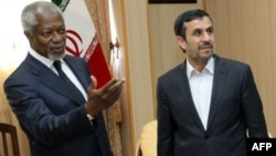 Кофи Аннан после вчерашних переговоров с Махмудом Ахмадинежадом о перемирии в Сирии