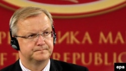 Rehn is on a three-day trip to the region