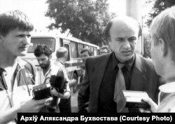 Аляксандар Бухвостаў з журналістамі