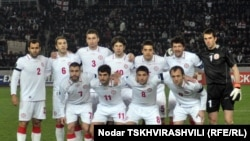 Грузинские футболисты перед тбилисской встречей со сборной Хорватии. 26 марта, 2011