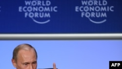"""""""All countries have found themselves in the same boat,"""" Putin told those gathered in Davos."""