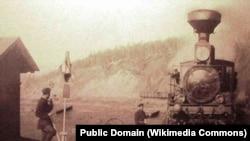 Транссибирская железная дорога, Западная горловина станции Хилок, Читинская обл., 1903