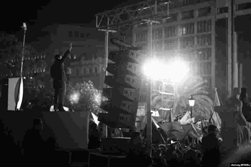 Алексис Ципрас и его ликующие сторонники, 26 января 2015 года