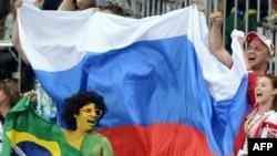 Российские болельщики на волейбольном матче