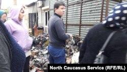 После очередного пожара на махачкалинском рынке, 1 ноября 2017 года