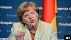 Канцлер ФРГ Ангела Меркель. Брюссель, 23 апреля 2015 года.