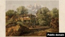 Карло Боссоли. Татарский дом в деревне Алупка