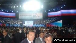 """Milorad Dodik na kongresu stranke """"Ujedinjena Rusija"""" u Moskvi, septembar 2011."""