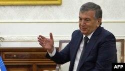 Өзбекстанның премьер-министрі әрі президент міндетін уақытша атқарушы Шавкат Мирзяев. Самарқанд, 3 қыркүйек 2016 жыл.