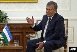 Премьер-министр Узбекистана Шавкат Мирзияев. Самарканд, 3 сентября 2016 года.