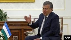 Премьер министр Узбекистана и основной кандидат на пост президента страны Шавкат Мирзияев.