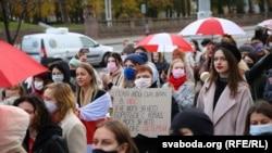 Belarus - Protest al femeilor, Minsk, 31Oct2020