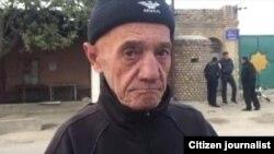 Бобомурод Раззаков, правозащитник, вышедший на свободу условно-досрочно после трех лет тюрьмы. Таваксай, 25 октября 2016 года.