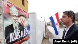 Plakati podrške ratnom zločincu Slobodanu Praljku u Čapljini