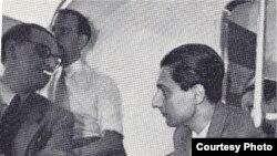 Producătorul EMi Walter Legge cu Dinu Lipatti la Geneva