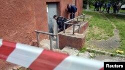 Слідчі на місці одного з вибухів, Львів, 14 липня 2015 року