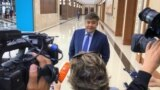 Kazakhstan - Nur-Sultan. The first meeting of the National Trust Council, Darkhan Kaletayev, first deputy presidential administration of Kazakhstan gives interviews to journalists Nur-Sultan. 6Sep2019