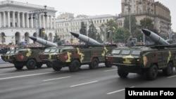 Радянські оперативно-тактичні ракетні комплекси «Точка-У» на параді в Києві 24 серпня 2016 року. Їх мають замінити нові перспективні проекти