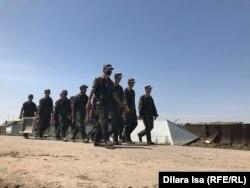 Солдаты, работающие на очисткой Оргебаса после наводнения, 12 мая 2020 года.