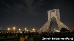 Tehran's Azadi monument.