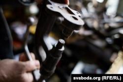 Станок для штампаваньня на скуры надпісу «Grodno»