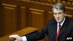 Віктор Ющенко виступає зі зверненням до Верховної Ради 31 березня 2009 року