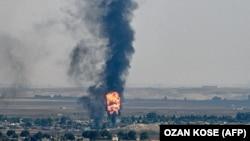 Чад во сирискиот град Рас ал-Аин за време на турската офанзива на северот на земјата.