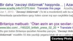 """Google axtarışında """"Zəvzəyi öldürmək"""""""
