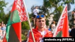 Агітацыя за Аляксандра Лукашэнку, Горадня, мітынг, 22 жніўня