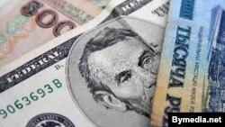 Ամերիկյան դոլարներ և բելառուսական ռուբլիներ, արխիվ