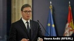Aleksandar Vučić u Predsedništvu Srbije, arhivska fotografija