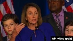 """Wekiller öýüniň demokrat lideri Nensi Pelosi: """"Ertir Amerika üçin täze gün boljakdygyny"""" jar etdi."""