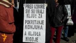 Protest radnika Konjuha u Sarajevu