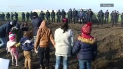 Мигрантски камп на границата меѓу Србија и Хрватска
