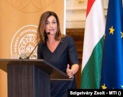 Varga Judit igazságügyminiszter a Nemzetek Európája karrierprogram nyitóünnepségén