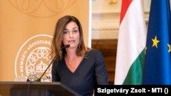 A Nemzetek Európája karrierprogram nyitóünnepségén beszél Varga Judit igazságügyi miniszter.