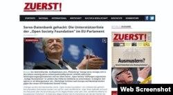 """Campanie anti-Soros în revista radicală germană """"Zuerst"""""""