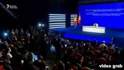 Садыр Жапаровдун басма сөз жыйыны. 2020-жылдын 12-ноябры.
