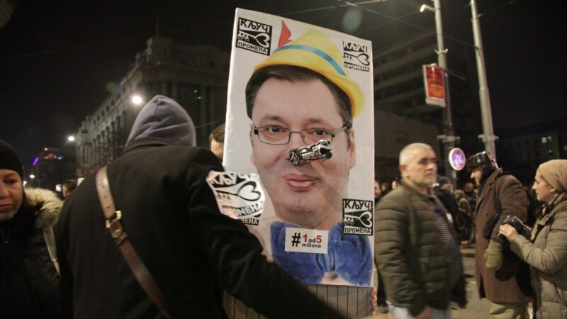 Serbs Rally To Demand President Vucic Step Down