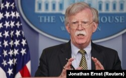 Джон Болтон, советник президента США по нацбезопасности на брифинге в Белом доме