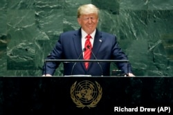 Donald Trump la tribuna ONU