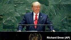 Președintele american Donald Trump la Adunarea Generală ONU, 24 septembrie 2019